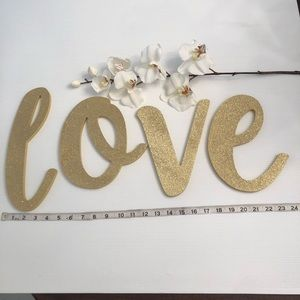 Other - l o v e  Glittered Wooden  Letters